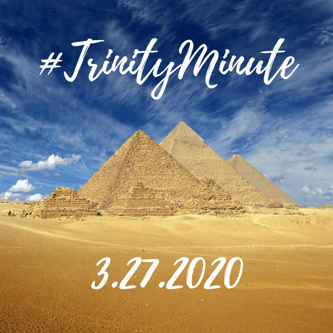 #TrinityMinute 3-27-2020